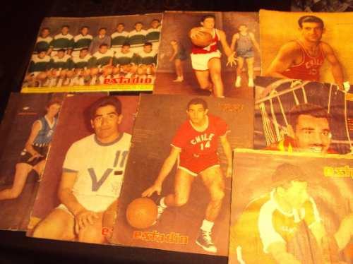 basquetbol, 1956 a 1962, revista estadio (8)