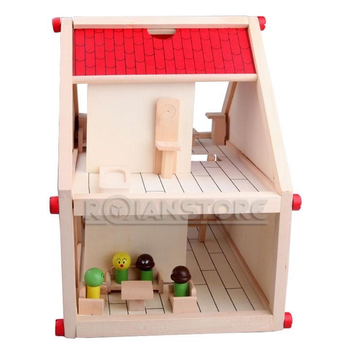 casa de mu ecas de madera para armar con muebles y monitos