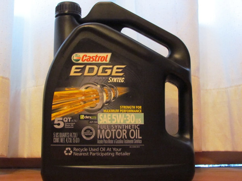 castrol edge syntec 5w-30 full synthetic 5qt 4,73lt