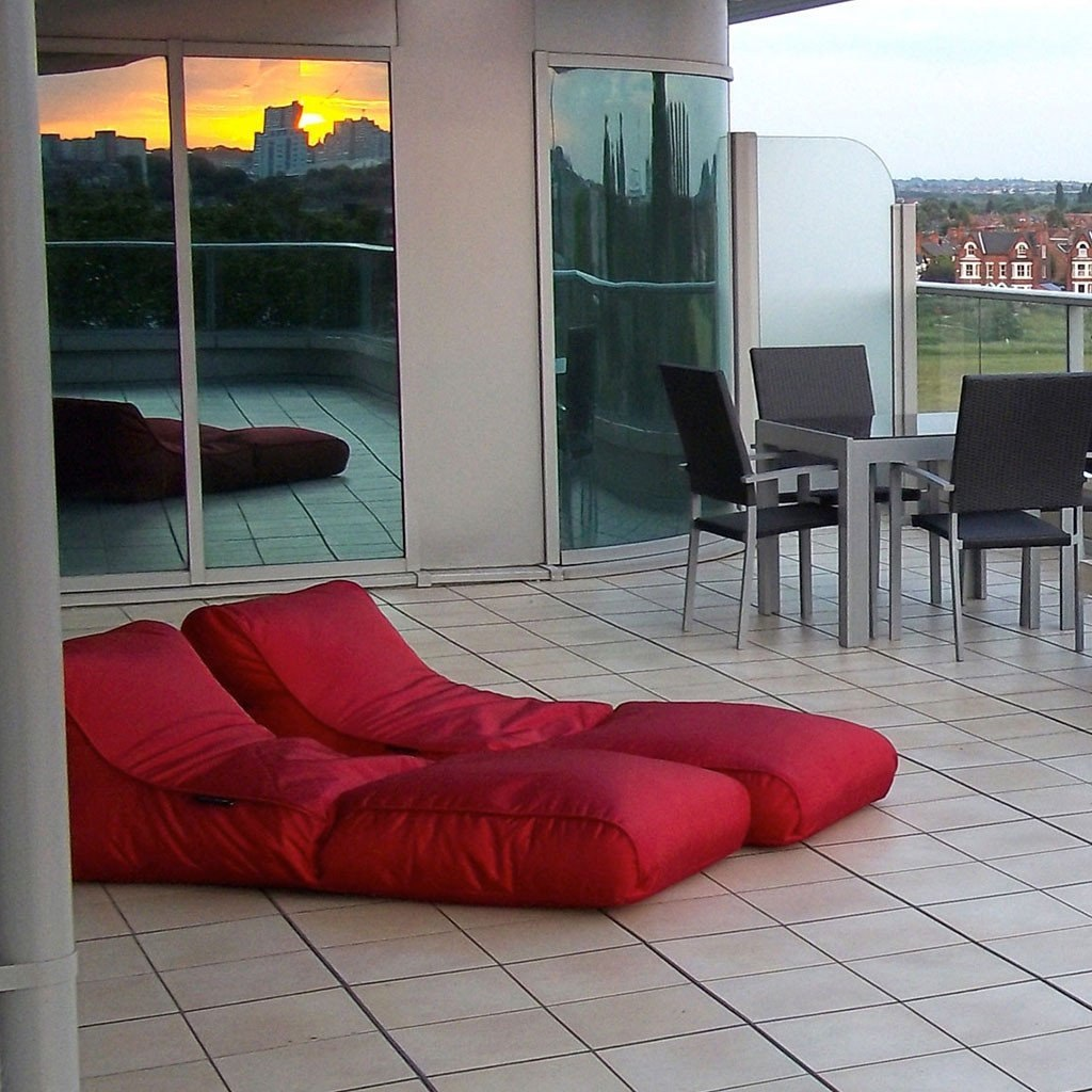Conversion lounger toro red tumbona plegable para la playa for Tumbona plegable playa