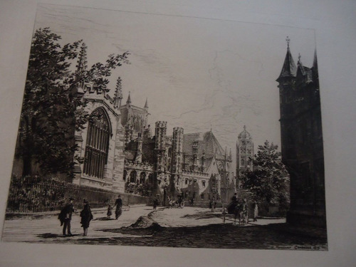 grabado  de inglaterra antigua   data  de  1900