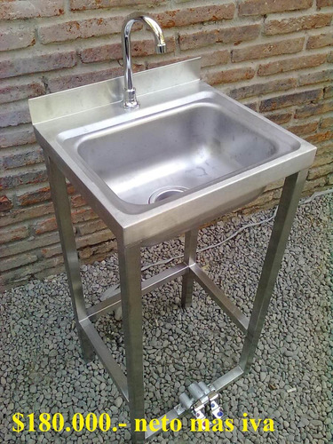 lavafondos, lavamanos, lavabotas, acero inoxidable metaldap