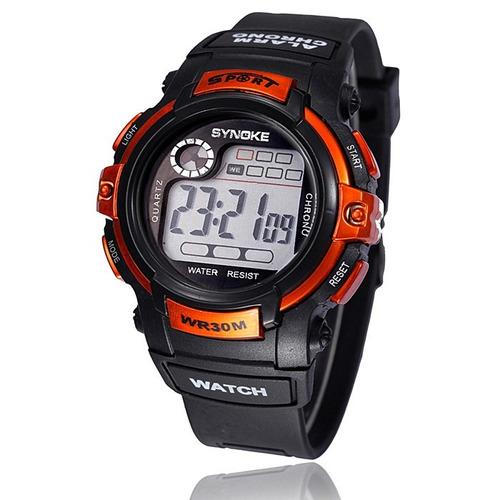 reloj digital led resistente al agua, alarma, cronometro.