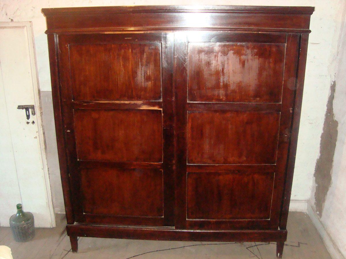 Ropero dos cuerpos con madera de calidad antiguo 200 for Ropero usado precio
