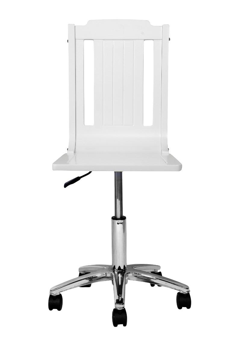 Silla escritorio blanca lacada en mercado libre for Silla escritorio blanca