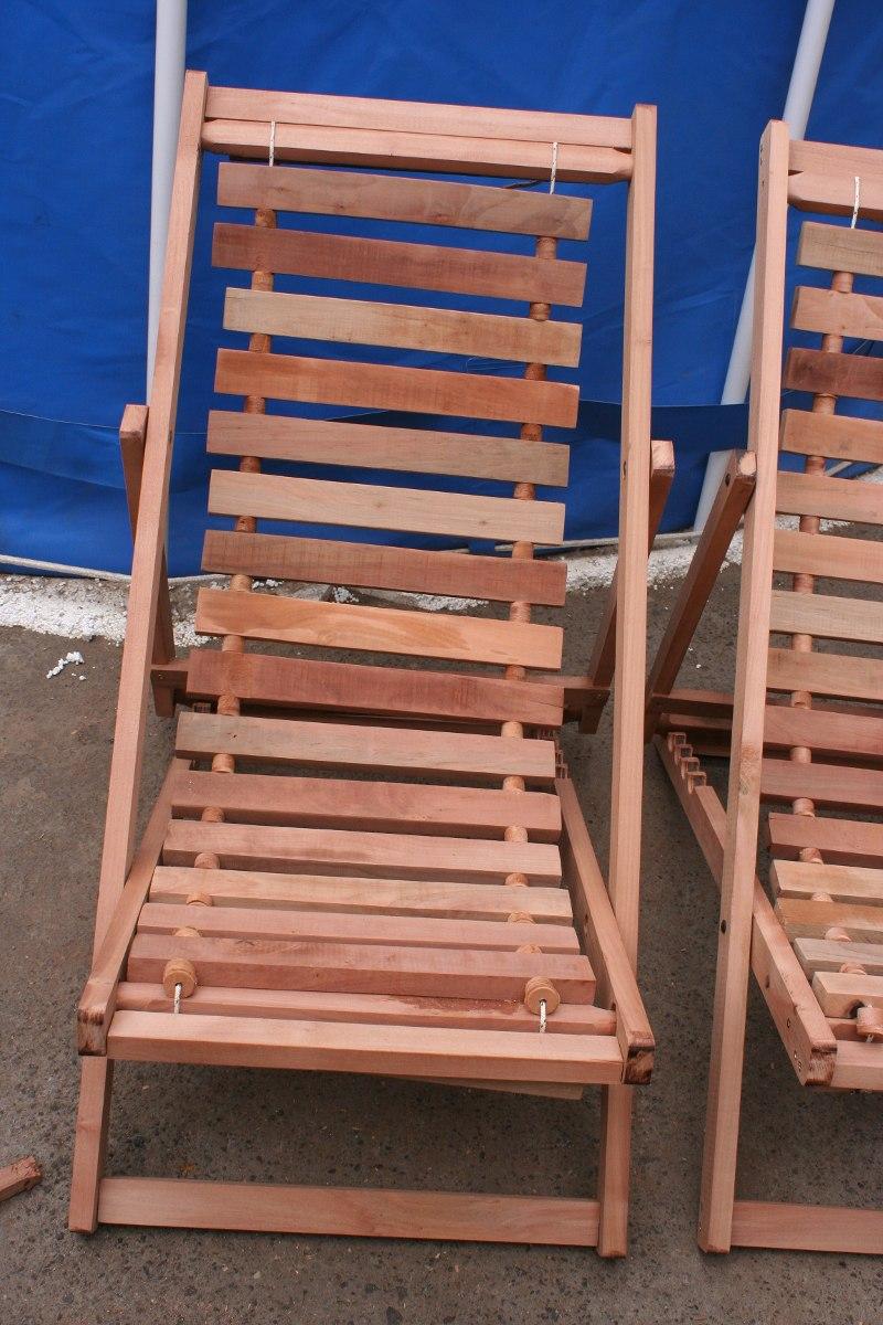 Sillas de playa 100 madera nativa en mercado for Sillas de madera comodas