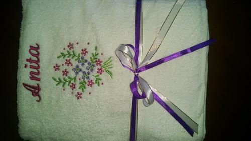 toallas de baño bordadas personalizadas