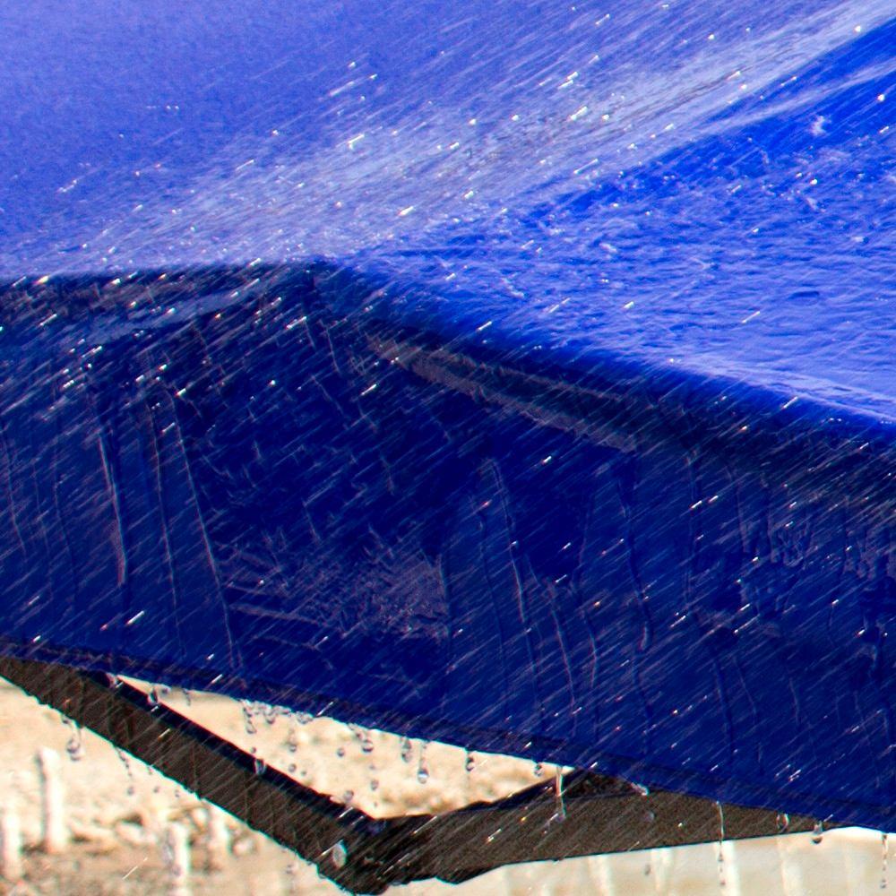 Toldo plegable carpa 3x3 metros lona azul en for Toldo plegable 3x3