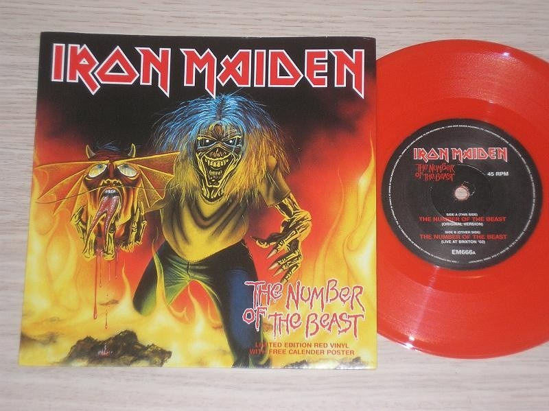 Iron Maiden Number Of The Beast Single Vinilo Iron Maiden The...
