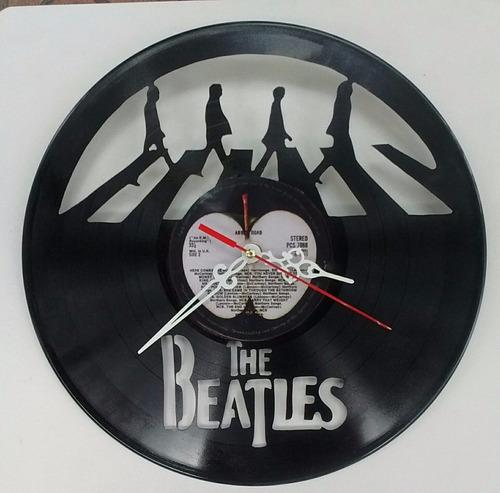 vinilo the beatle  reloj arte decoracion