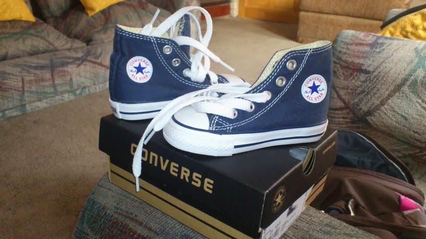 zapatillas converse niño azul